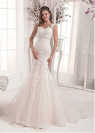 Buy Discount Amazing Tulle Satin Sweetheart Neckline Mermaid Wedding Dresses With Lace Appliques Blackfriday