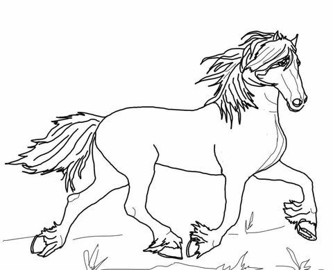 Friesian horse printing pictures coloring pages ~ Friesian Horse Coloring page | HORSE CRAFTS | Pinterest ...