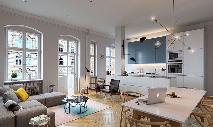 Come arredare un open space moderno ecco 25 idee di for Idee per arredare soggiorno moderno