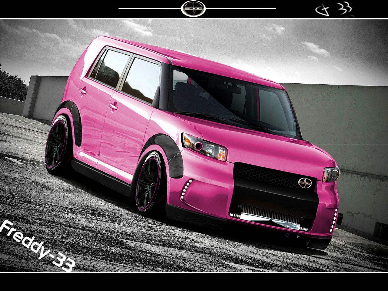 Scion Xb Pink By Freddy 33 On Deviantart Scion Xb Scion Scion Accessories