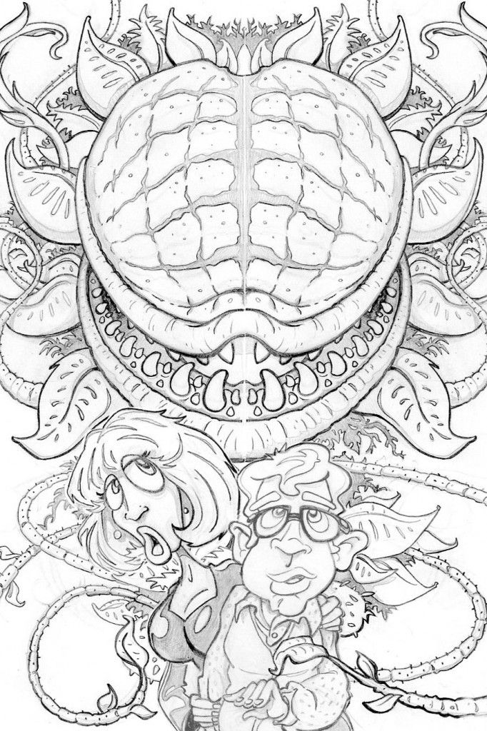 Little Shop Of Horrors Mattcandraw Coloring Pages Little Shop Of Horrors Halloween Coloring Book