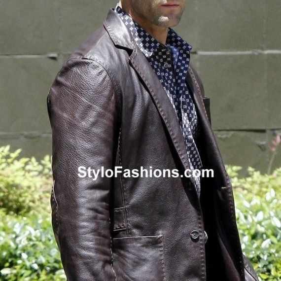 Blazers In Statham: Jason Statham Fast Furious 7 Leather Jacket