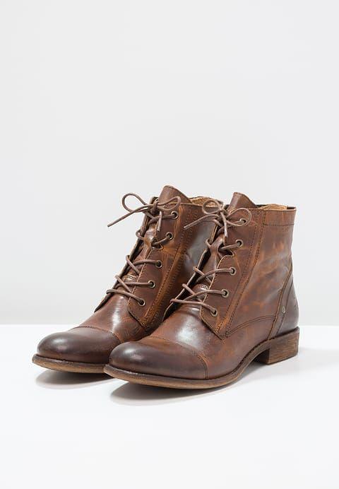 0e7818f87e28 Chaussures Mustang Bottines à lacets - kastanie cognac: 109,95 € chez  Zalando (au 10/09/17). Livraison et retours gratuits et service client  gratuit au 0800 ...
