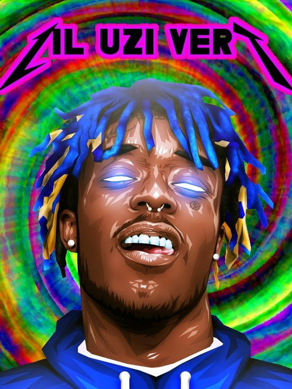 Lil Uzi Vert Poster // Psychedelic Poster // Pop Culture | Etsy