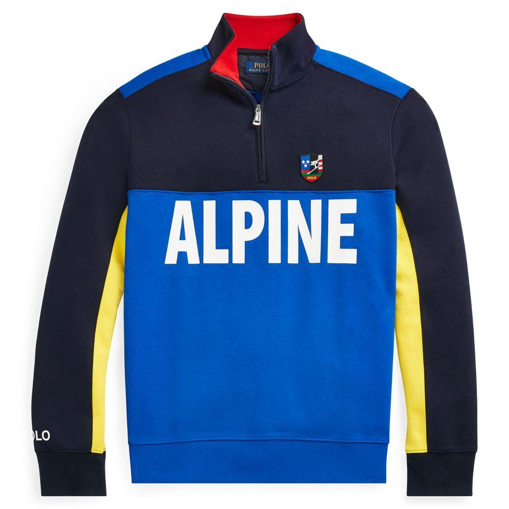 Polo Ralph Lauren Alpine Ski 92 Skier Downhill HalfZip