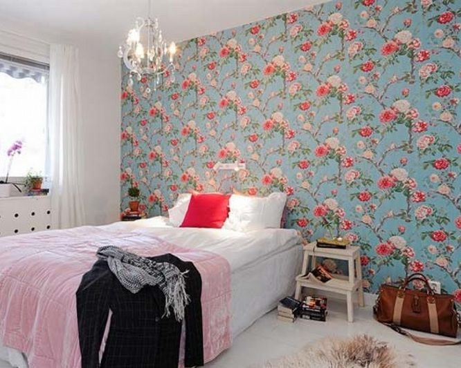 Floral Vintage Bedroom Ideas With Floral Wallpaper Decolover Net