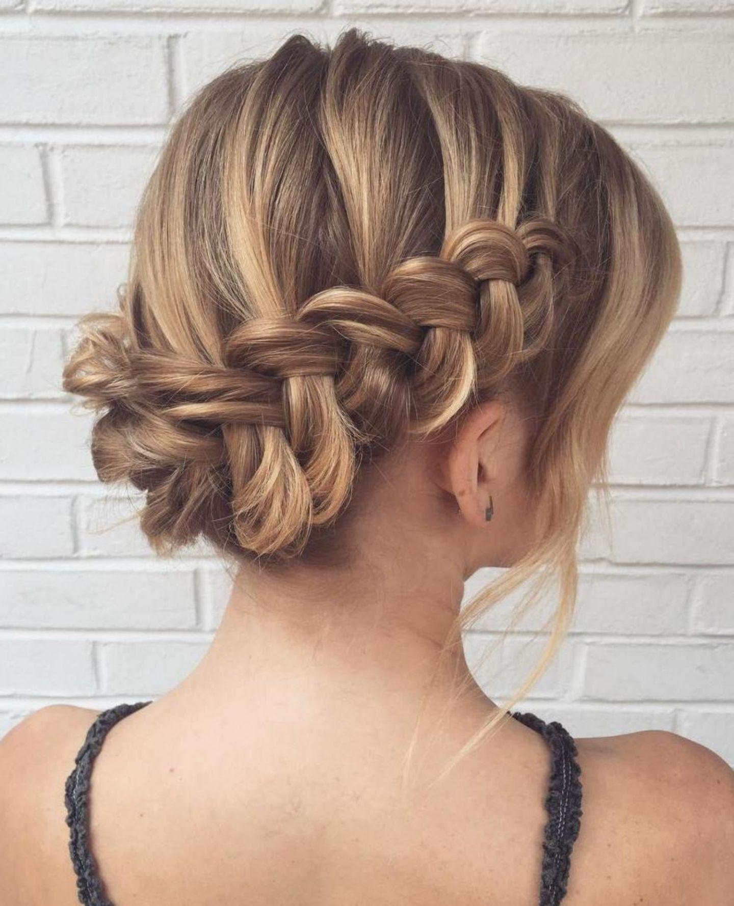 Updo With Dutch Waterfall Braid Prom Hairstyles For Long Hair Box Braids Wedding