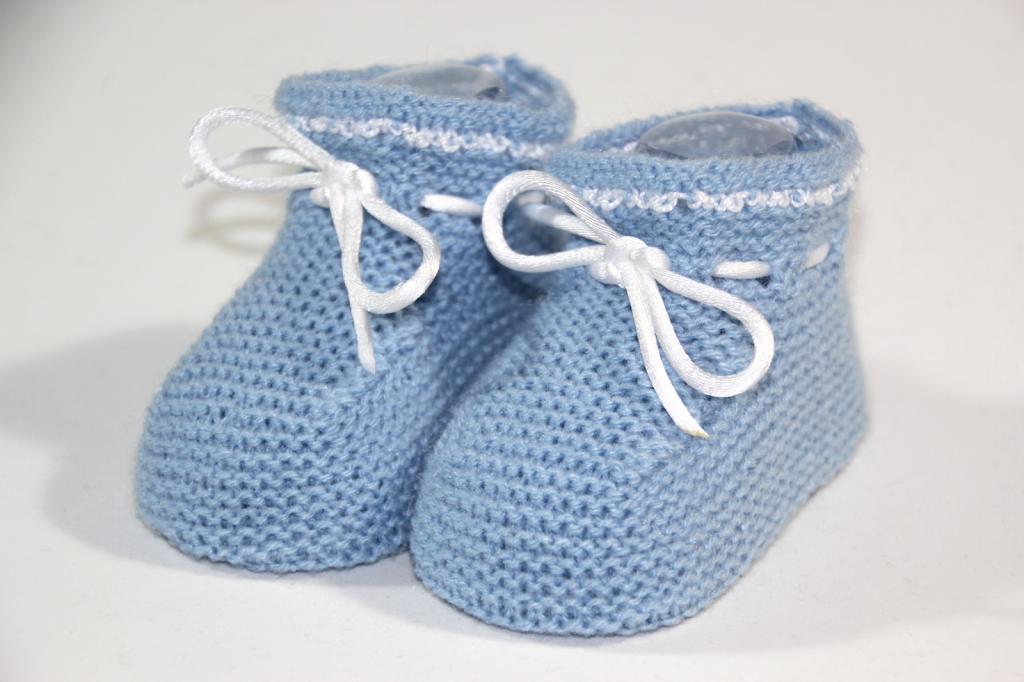 DIY Cómo hacer patucos de punto para bebe (patrones gratis) | Patrón ...