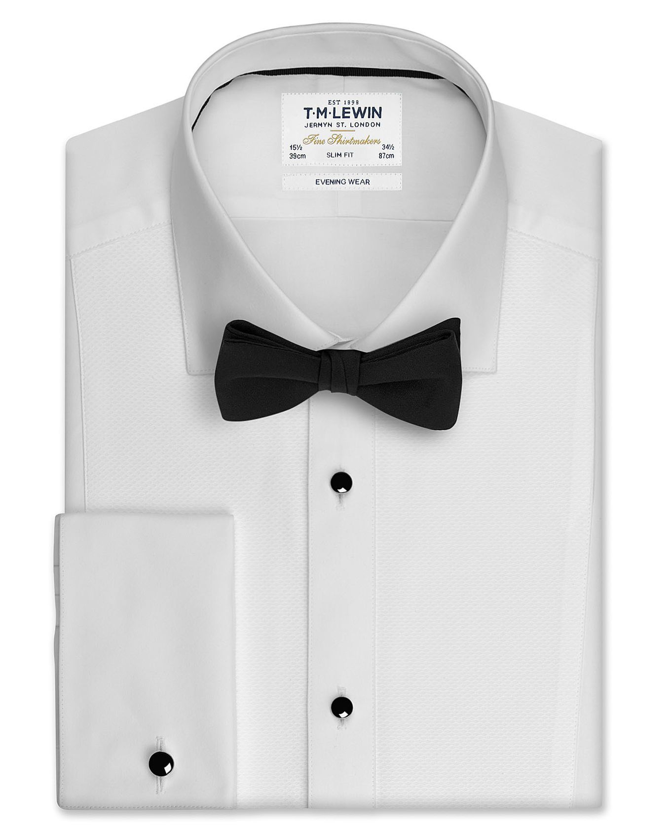 5ed1549210f Slim Fit White Marcella Evening Shirt with Removable Studs and Cufflinks – Double  Cuff
