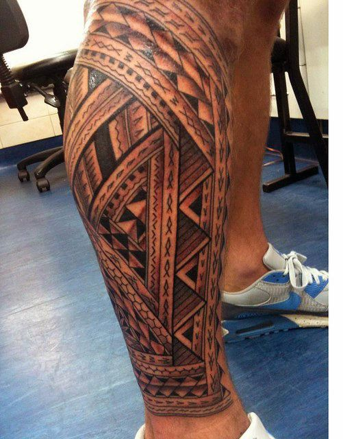 Decorative Polynesian Tribal Leg Tattoos For Men Tatuagem Na Perna Tatuagem Maori Tatuagens Perna