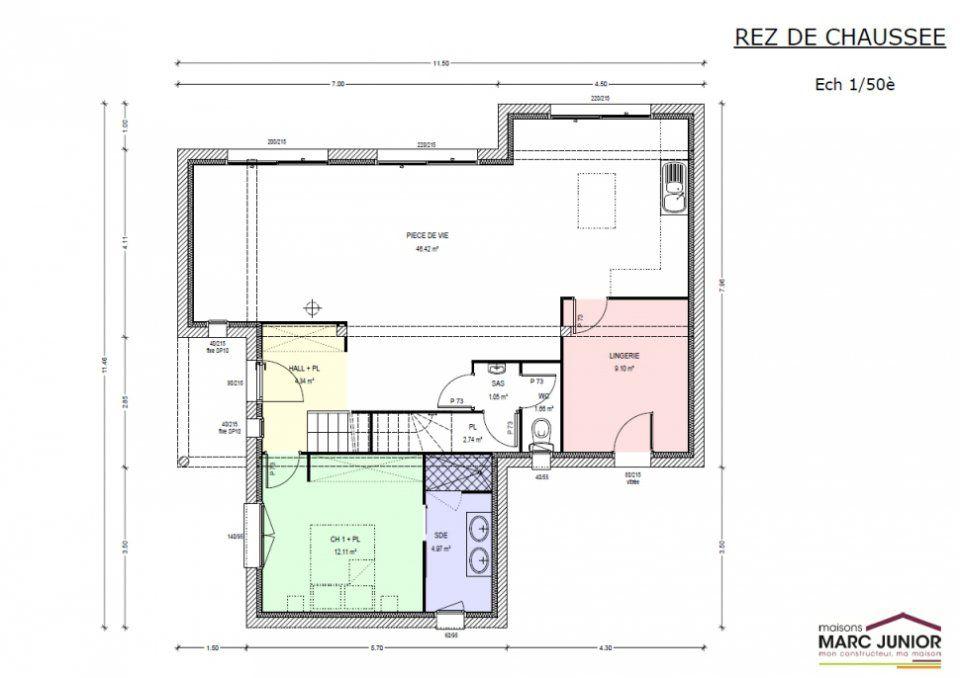Plan achat maison neuve construire marc junior mod le for Achat maison neuve 33000