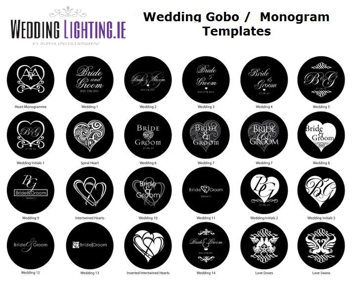 Image result for wedding gobo templates