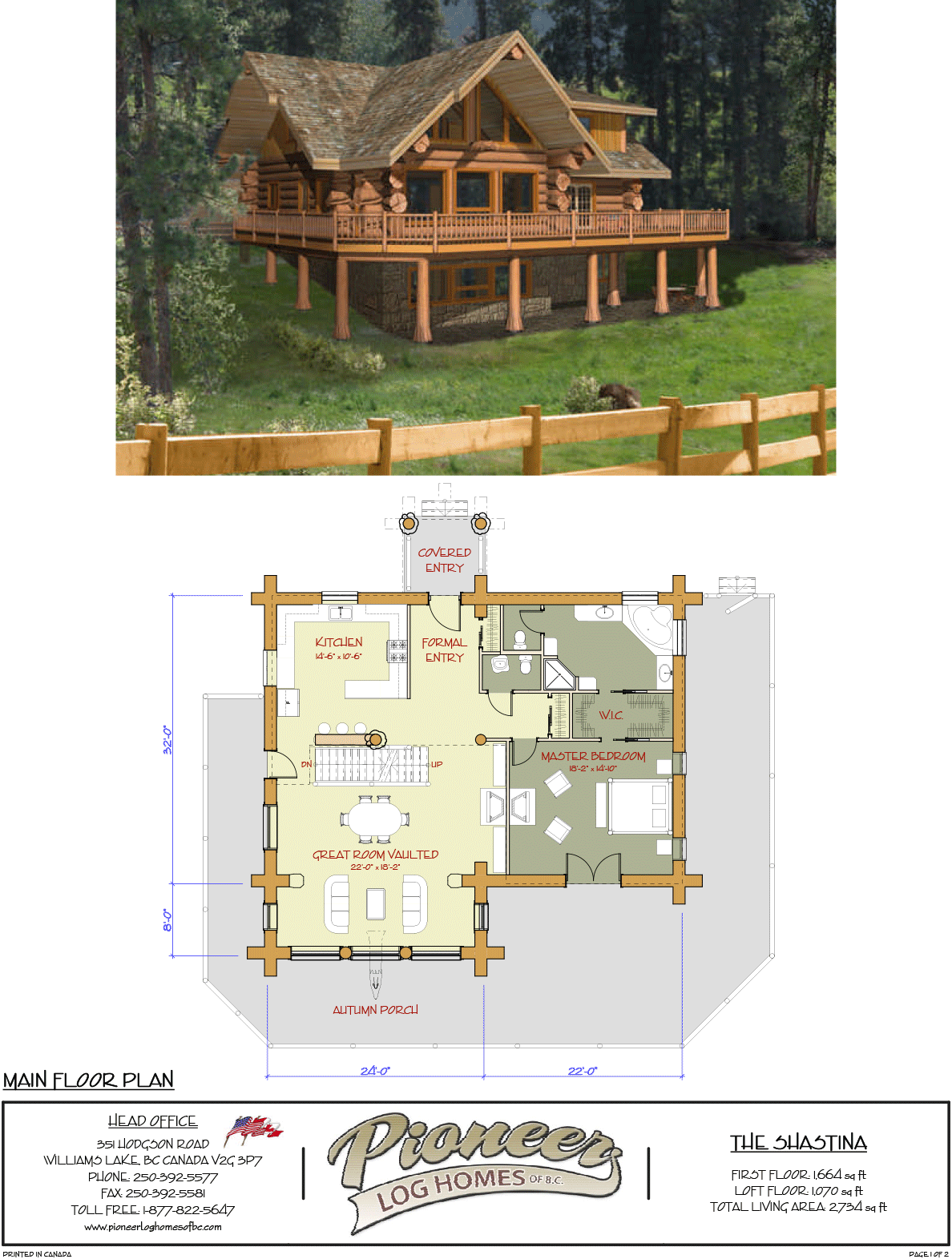 Shastina Pioneer Log Homes Midwest Log Homes Ranch Style House Plans Mountain Home Exterior