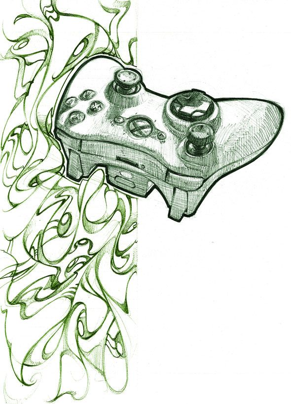 Xbox 360 Controller By Biz02 On Deviantart Drawings Art Doodle Drawings