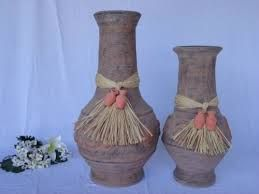 Decoracion Con Jarrones De Barro Buscar Con Google Vase Decor Home Decor