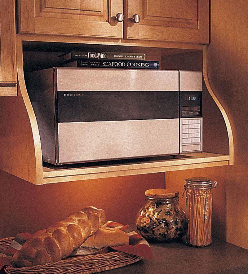 Storage Solutions at KraftMaid.com | Microwave shelf ...