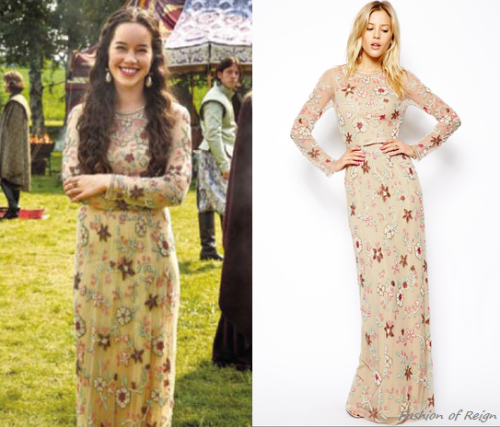 Fashion Of Reign In The Episode Coronation Lola Wears This Sold Out Needle Thread Secret Garden Maxi Dress