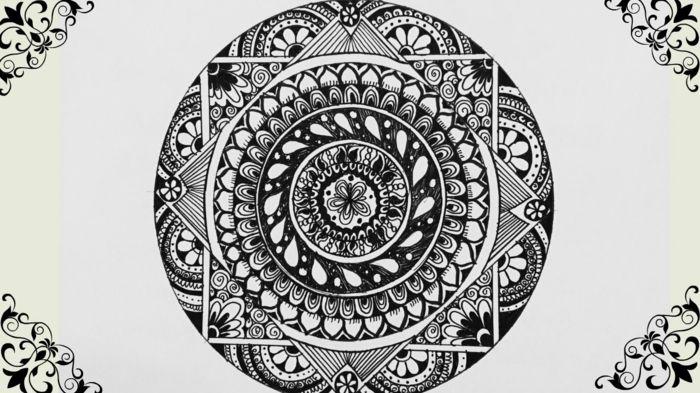 1001 Idees Et Techniques Pour Faire Un Mandala Mandala Dessin Mandala Mandala Art
