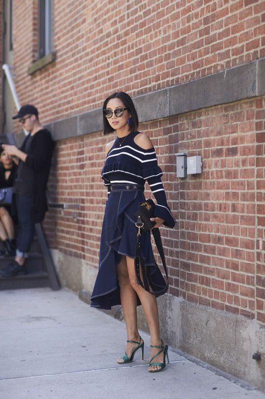 a8f28f22 Stylizacje gości na New York Fashion Week wiosna-lato 2018 | street ...