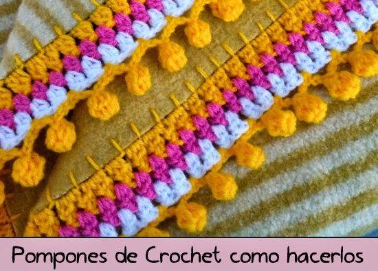 Pom pom de Crochet video tutorial - Patrones Crochet | puntillas ...