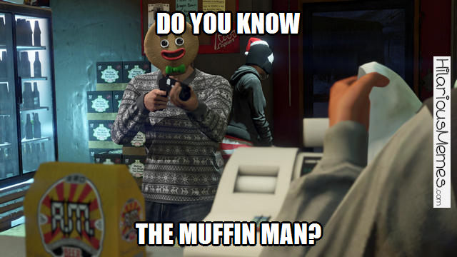Funny Memes Every Time I See The Gingerbread Mask In Gta 5