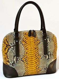 Karen 100 Handmade Genuine Exotic Leather Python Snake Skin Women Handbag Ebay