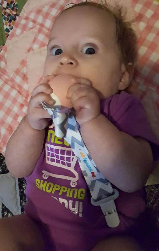 Baby girl loves her Teething Egg ☺ makes her happy when