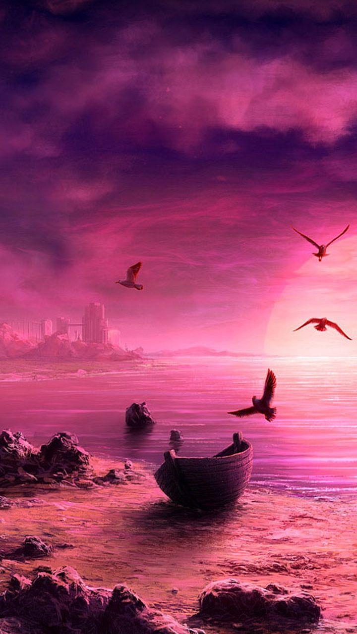 720x1280 magical beach gras hills ocean galaxy s3 wallpaper - My Samsung Galaxy S3 Wallpaper Hd Landscapes 5