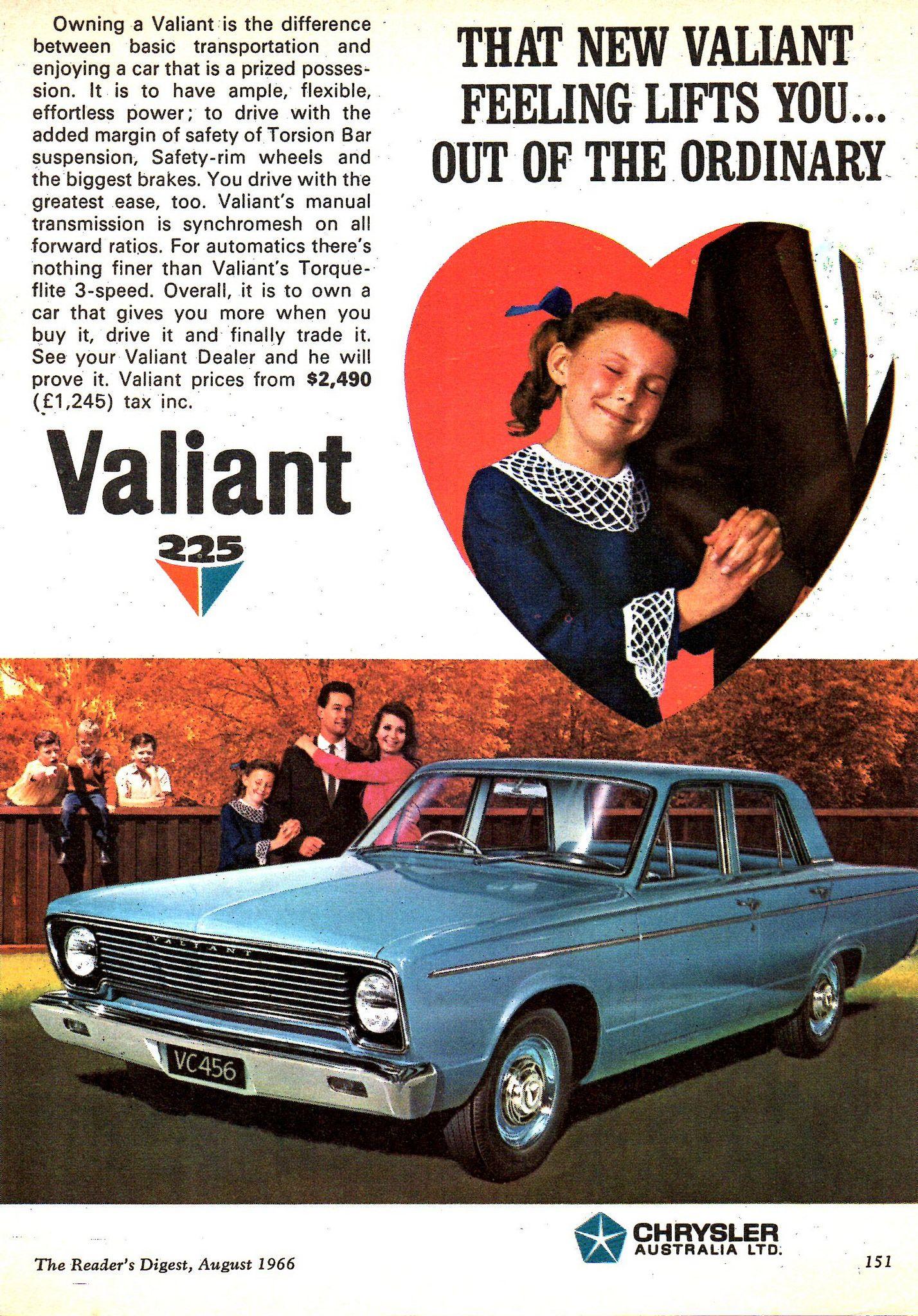 1966 VC Chrysler Valiant 225 Aussie Original Magazine ...