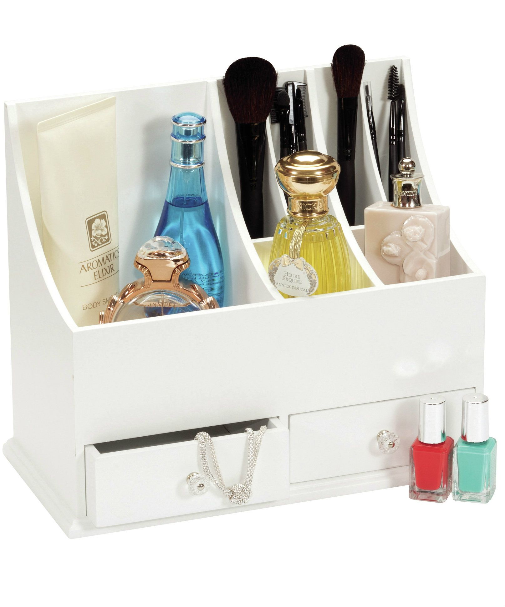 Makeup Storage   Holder Sleek Dressing Table Accessory