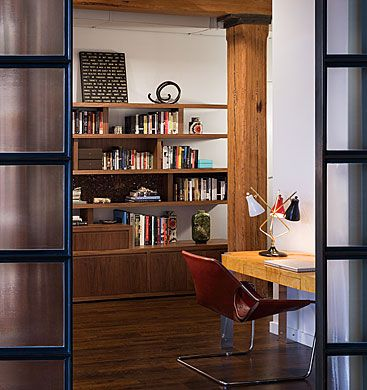 Brick Wall Studio Apartment By Stephan JAKLITSCH : GARDNER   View To  Library Through Japanese Style Double Doors