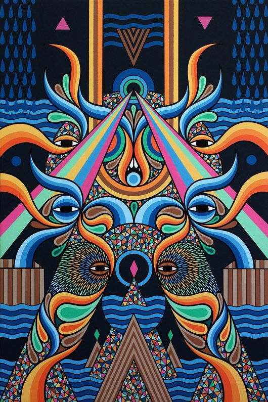 Beastman Art Design Wallart Artist Geometric Pattern Symmetrical Painting Thehours Creative Energy Art Art Appreciation Artwork