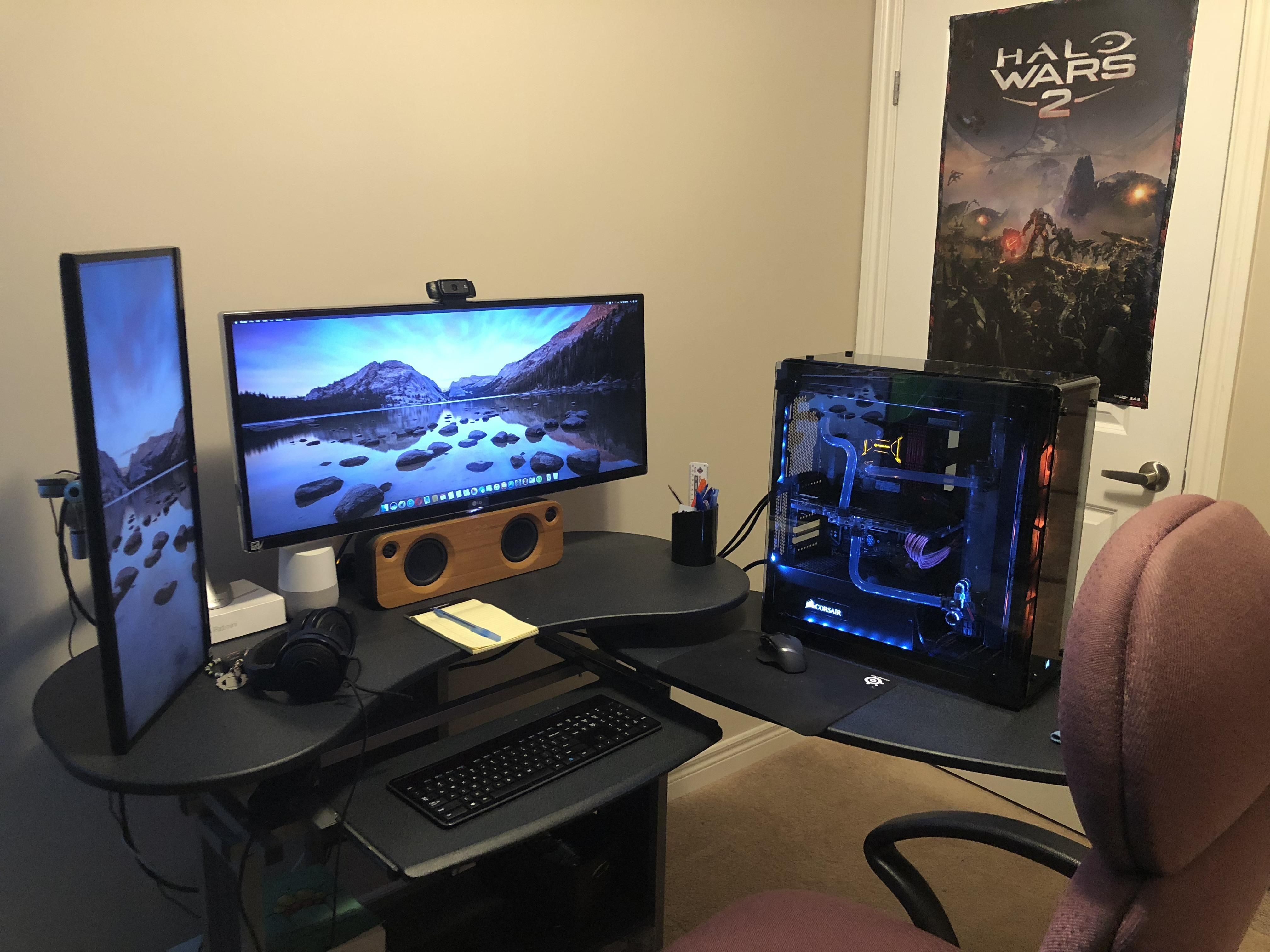 Kratos My God Of War God Of War Gaming Room Setup Computer Setup
