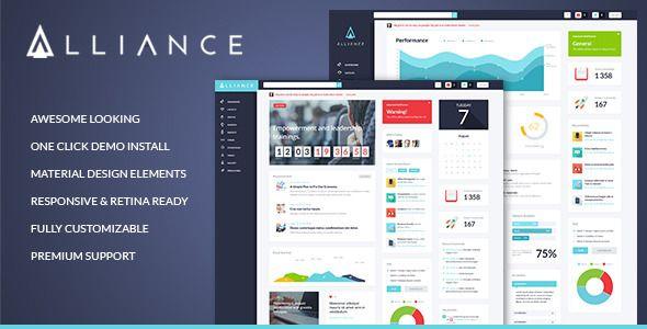 Alliance v2.1 – Intranet & Extranet WordPress Theme | Template ...