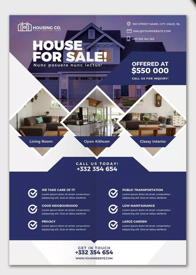 Real Estate Flyer Template Psd With