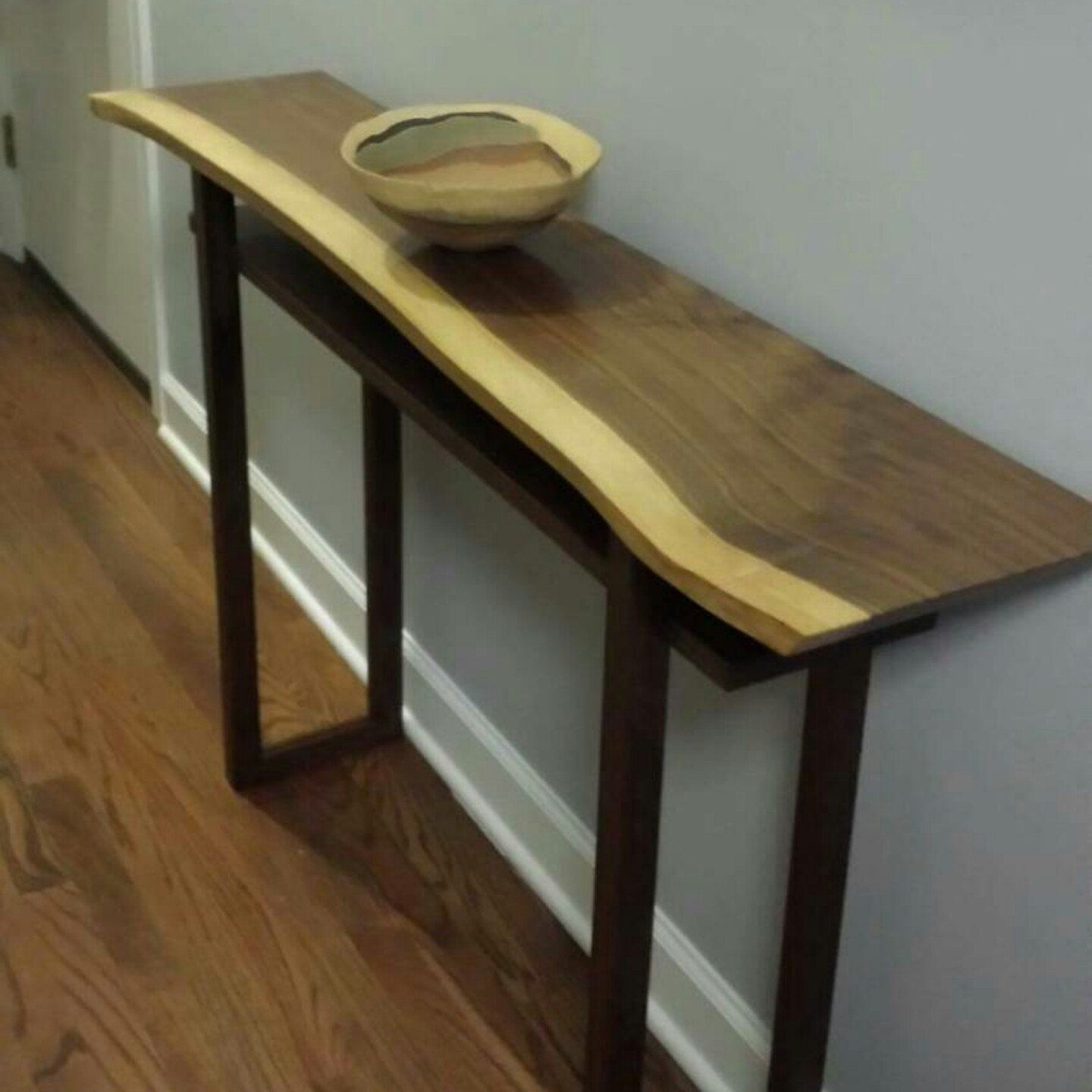 Live Edge Hall Table Wood Console Narrow Entryway Furniture
