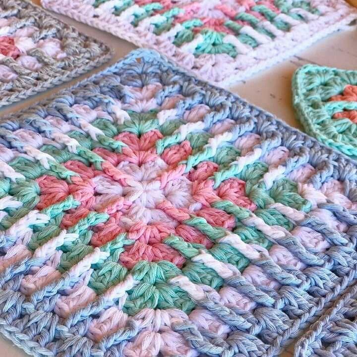 Pin von Juliane Pugliese auf Square Croche | Pinterest | Häkelmuster