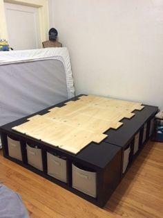 Shelf Bed Storage Bedroom Hacks How To Make Bed Bed