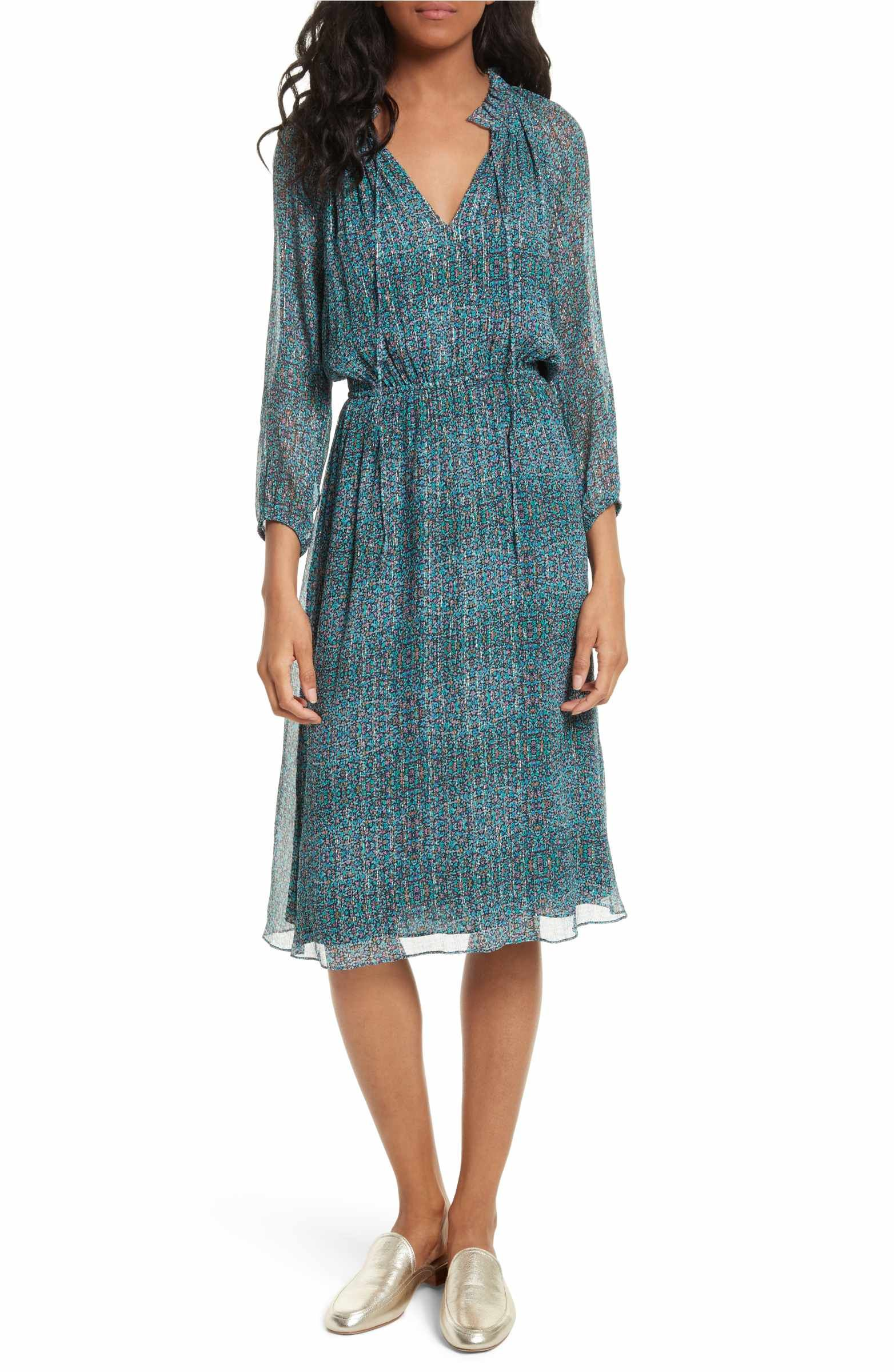 Main image rebecca taylor minnie floral chiffon dress clothes