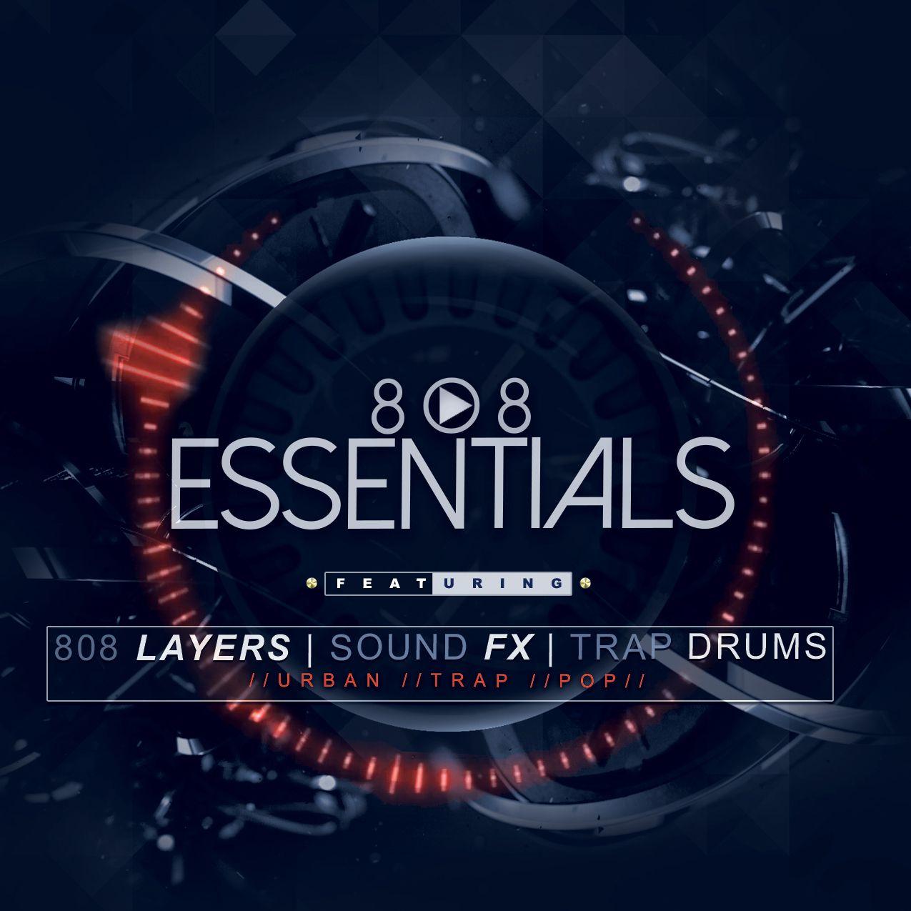 808 Essentials Bass Layers, SFX & Drums Drum kits