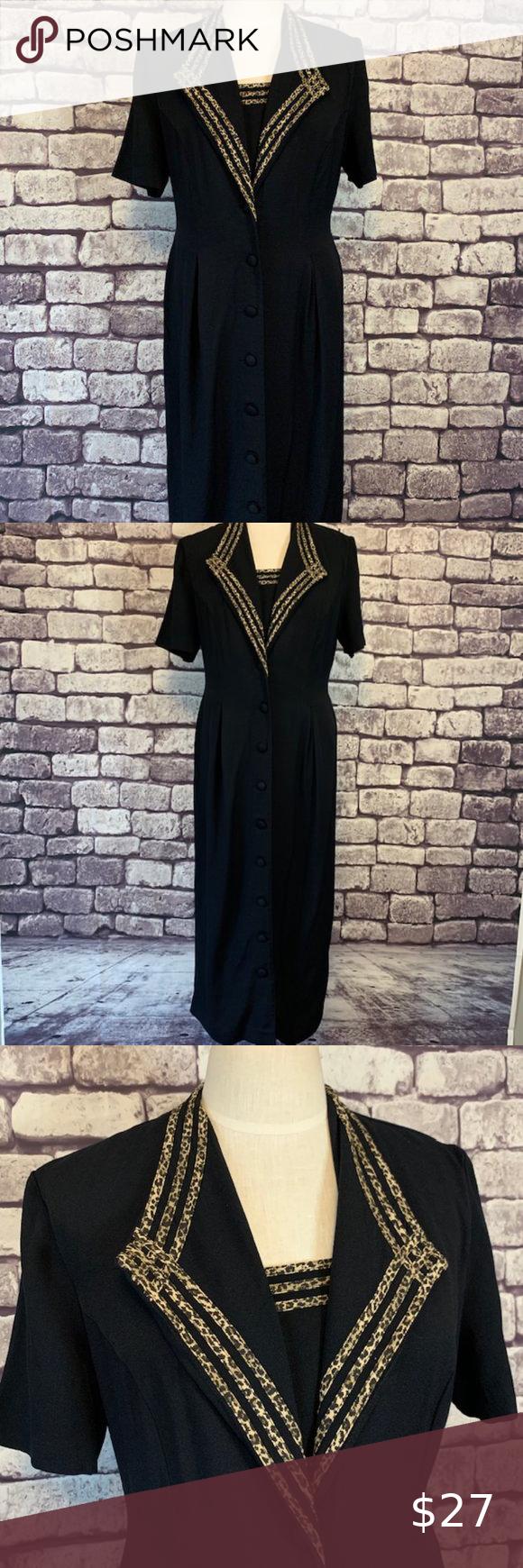 S L Fashion Vintage Black Dress Size 12 Vintage Black Dress Sl Fashions Dress Fashion [ 1740 x 580 Pixel ]
