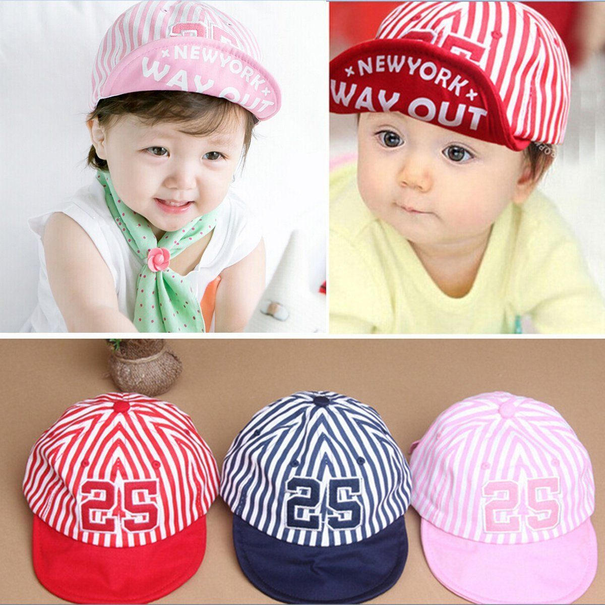 1.99 - Toddler Kids Cute Boys Girls Baby Infant Hat Casquette Peaked  Baseball Beret Cap  ebay  Fashion d8cd3704e4fb