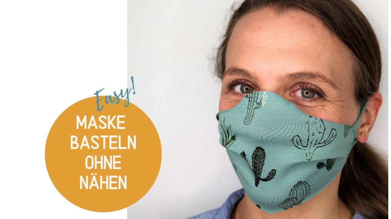 Maske basteln ohne Nähen: Schnelle Anleitung (2 Minuten)