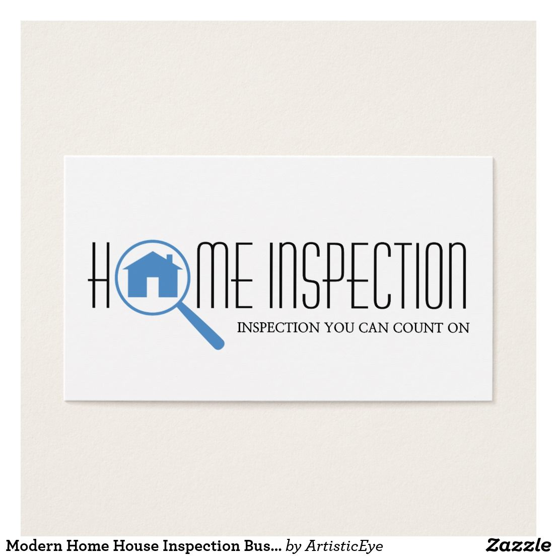 Modern Home House Inspection Business Cards Home Inspection Modern House Business Cards