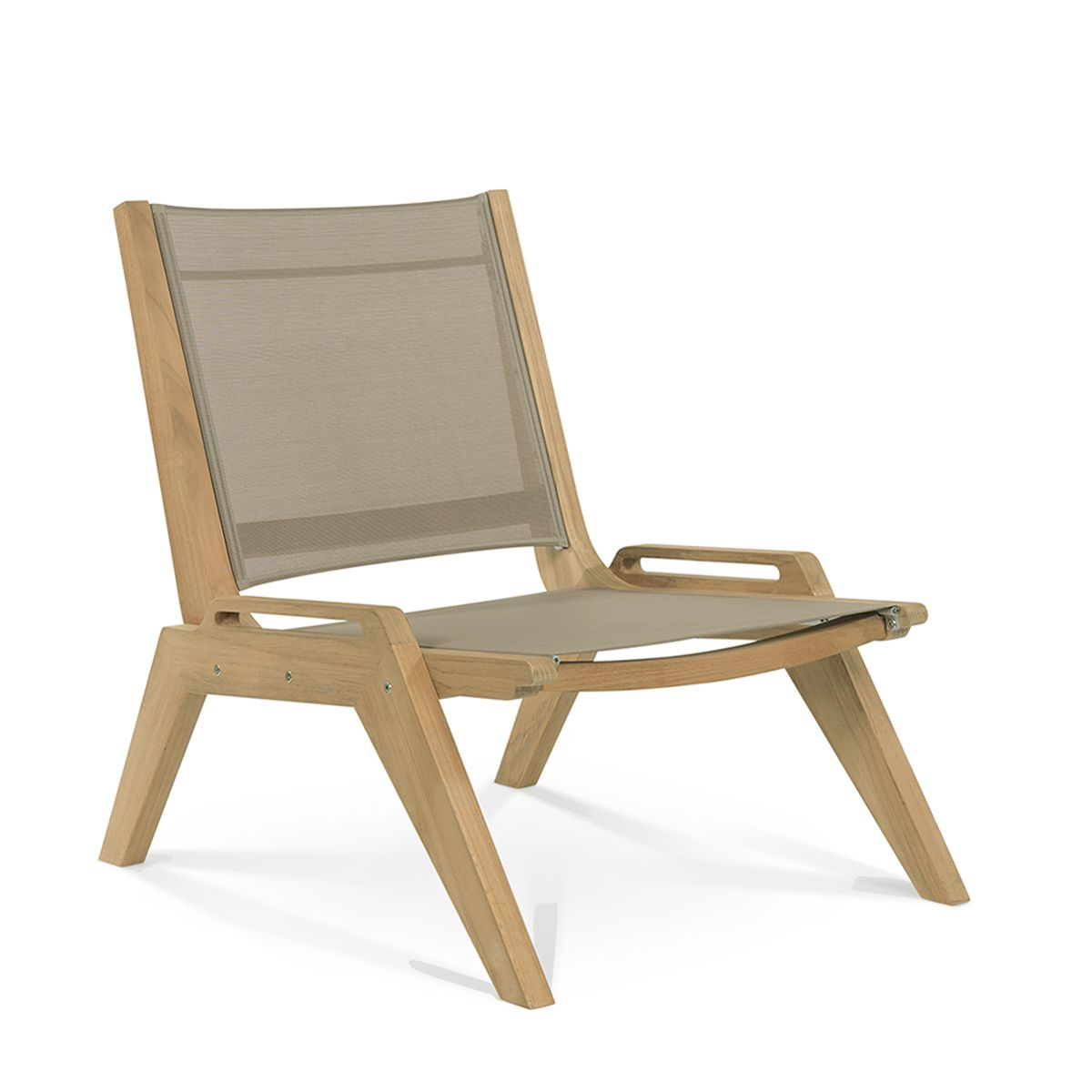 Teak Stacking Chair With Outdoor Sling Outdoor Furniture Teak Furniture Outdoor Chairs