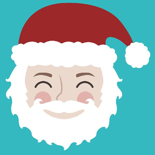 Cute Santa father Christmas design. New Christmas designs for 2016! Use the FREE Avery Design and Print software to create personalised Christmas cards, labels, gift tags, stickers and so much more.