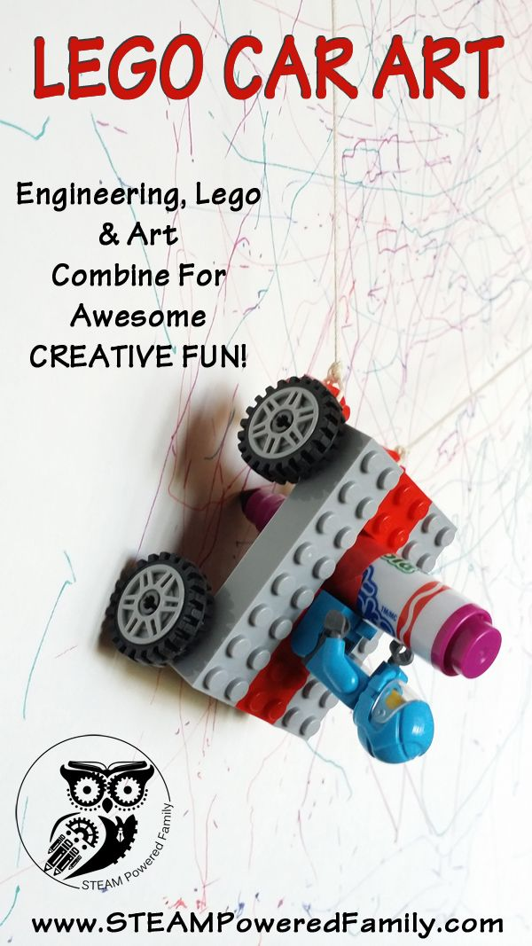 Lego Car Art - Lego, Engineering and Art Combine for Creative FUN on ...