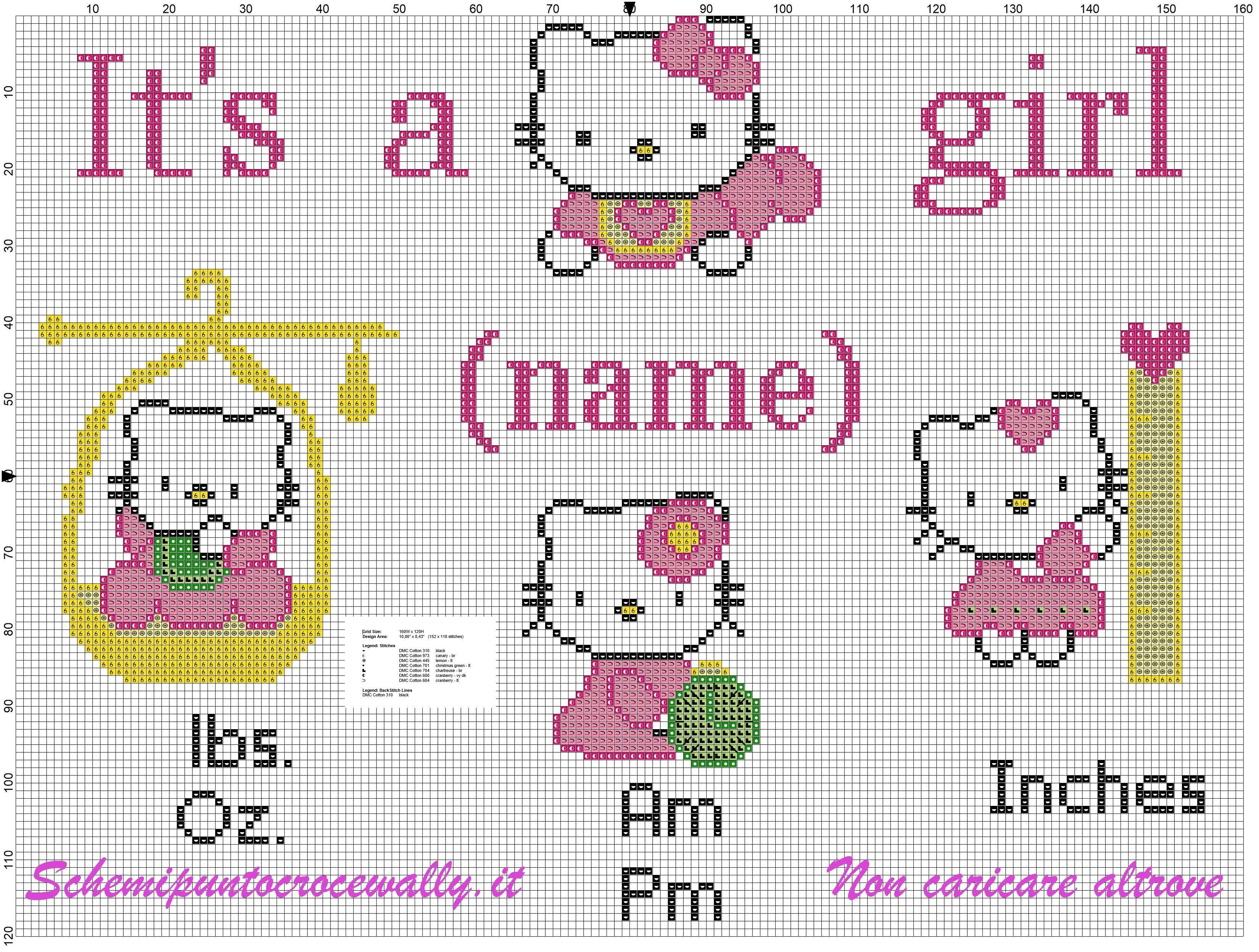 Hello kitty quadretto nascita schema punto croce gratis for Schemi a punto croce gratis