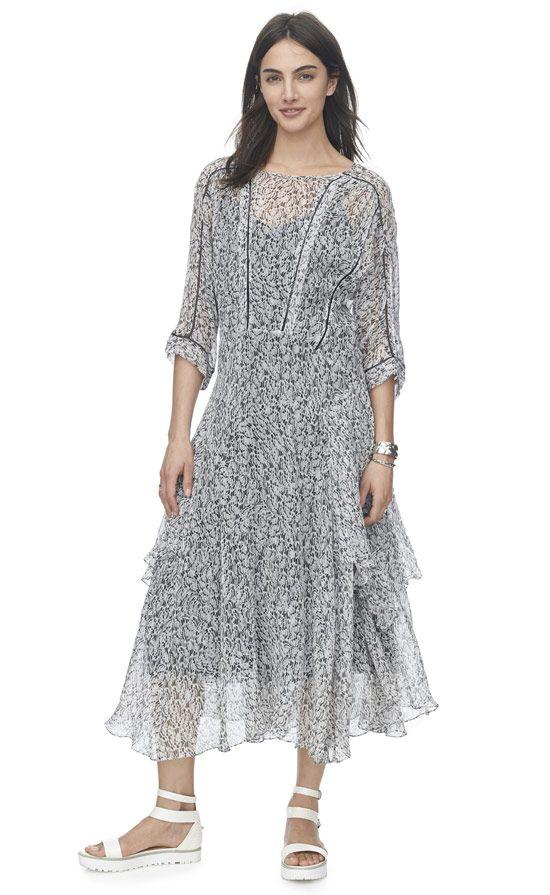 Flight Feather Midi Dress