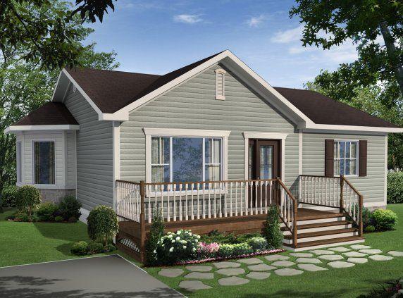 Maison neuve - Plain-pied, modèle Écono Gaby Maison Pinterest - modele plan maison plain pied gratuit